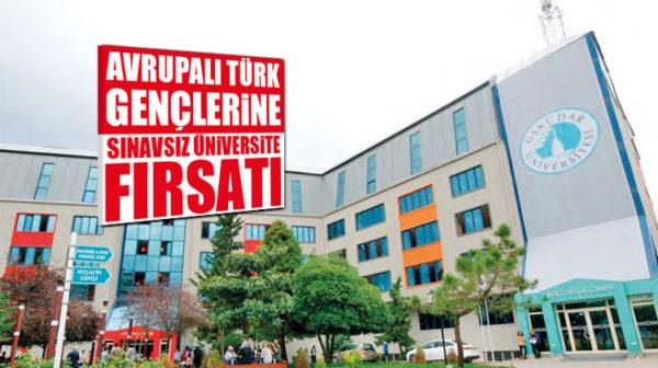 Avrupalı Türk Gençlerine Sınavsız Üniversite Fırsatı