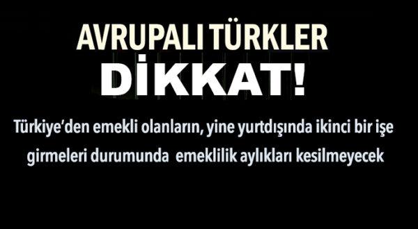 EMEKLİLERE ÇALIŞMA HAKKI GELDİ! TOPLU AYLIK ALMAK MÜMKÜN!