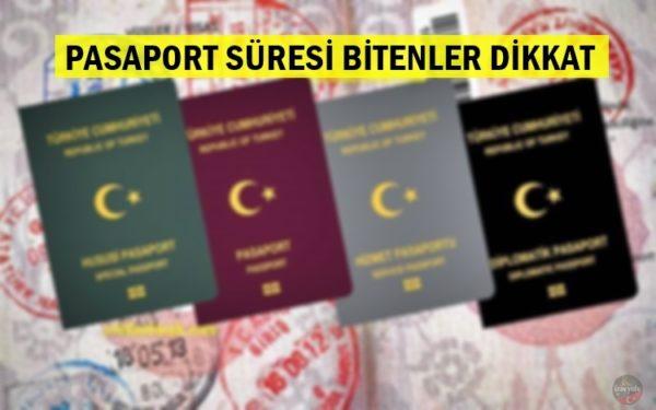 Pasaport süresi bitenler dikkat!