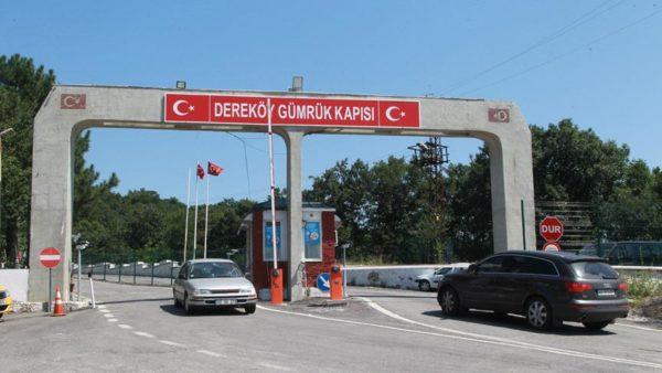 Dereköy Sınır Kapısı'ndan Türkiye'ye giriş yapan araçlar dezenfekte edilecek